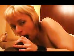 Blonde Interracial BBC 12-Inch Blowjob and Fuck
