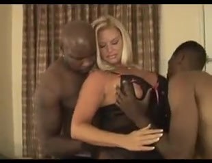 Gorgeous white blonde milf gets bbc gangbanged