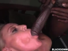 Blonde big titted milf gets threesome bbc hardcore