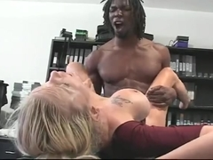 Big black moster cock drills white blonde wife