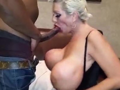 Big titted blonde mom gets big black stud