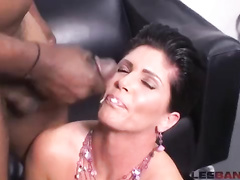 Hot brunette mom interracial bbc compilation