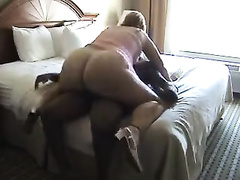 Massive ass MILF rides some black cock