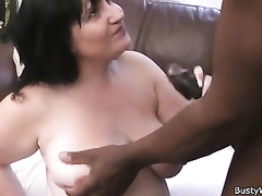 Working woman takes huge black cock