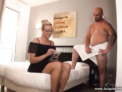 Wife in glasses fucked by arab bull