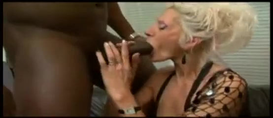 Blonde white granny interracial bbc addiction