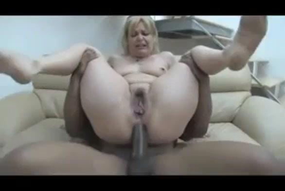 Blonde white mommy bbc anal hardcore creampie