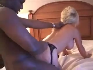 Amateur blonde white mom in lingerie interracial cuckold