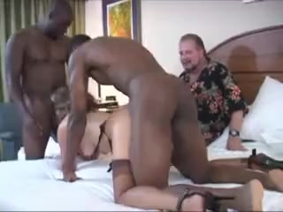 Wife gets gagged and creampied in front of cuck